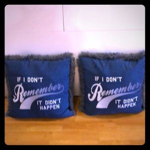 If I Dont Remember It Didn't Happen Throw Pillows